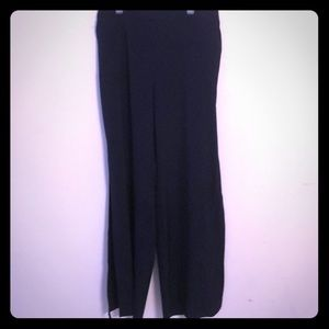 New York and Co wide leg side slit pants navy S